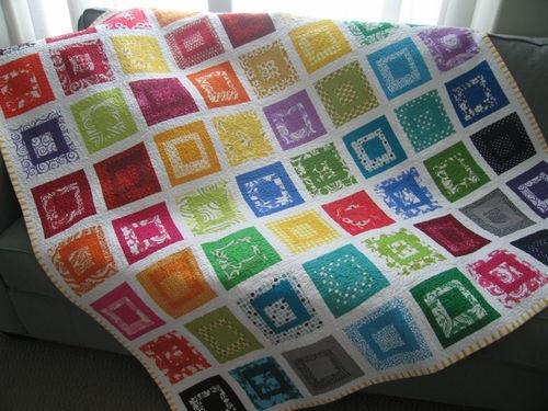 Paintbox quilt #quilt: Paintbox Quilts, Quilts Quilts, Paintings Boxes, Colors Schemes, Colors Quilts, Quilts Ideas, Rainbows Quilts, Bright Colors, Crafts