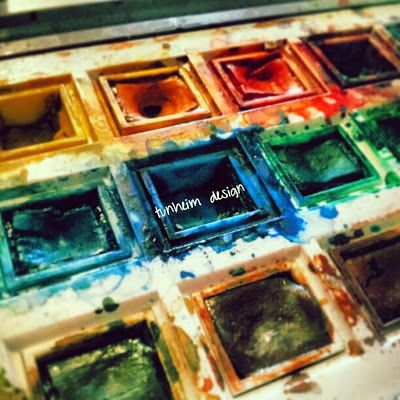 I love my watercolours ♥