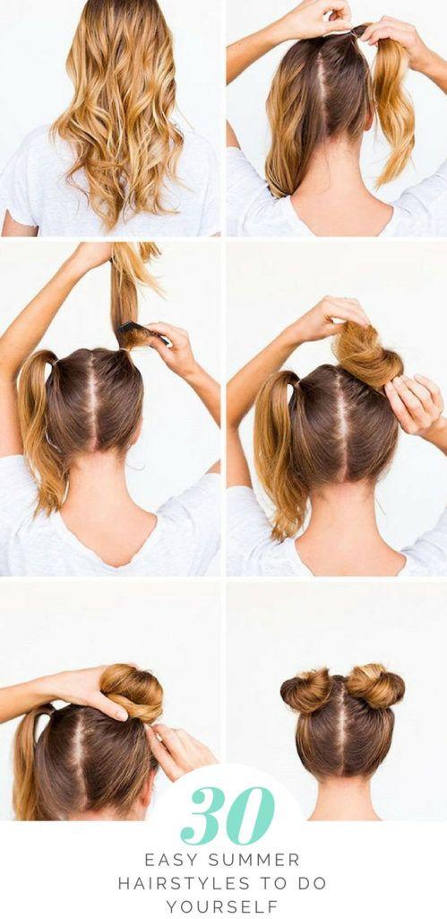 30 Easy Summer Hairstyles To Do Yourself Hair Bun Tutorial Bun Hairstyles Hair Tutorial