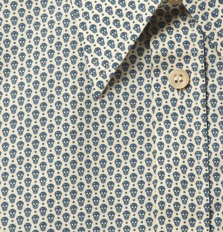 Skull button up dress shirt.