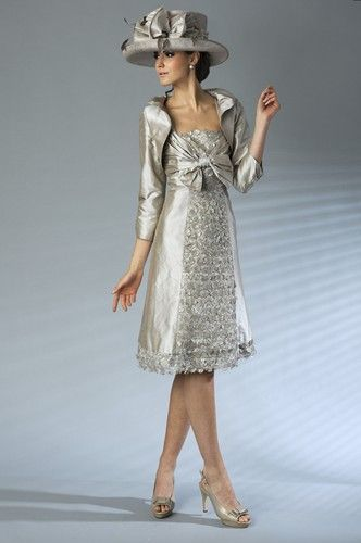 I like the dress with out the jacket unless its cold, not for me but someone to wear to my wedding.