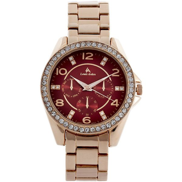 LOUIS ARDEN LA7236 Rose Gold-Tone Watch found on Polyvore