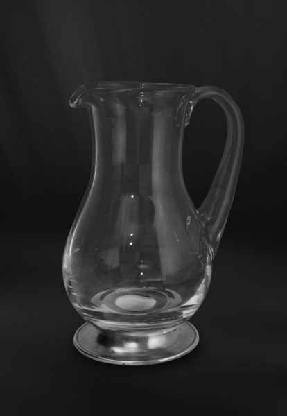 Pewter & Crystal Jug - Height: 21,5 cm (8,5″) - Food Safe Product - #jug #pitcher #pewter #crystal #brocca #caraffa #peltro #cristallo #krug #zinn #kristallglas #étain #etain #cristal #carafe #peltre #tinn #олово #оловянный #tableware #dinnerware #drinkware #table #accessories #decor #design #bottega #peltro #GT #italian #handmade #made #italy #artisans #craftsmanship #craftsman #primitive #vintage #antique