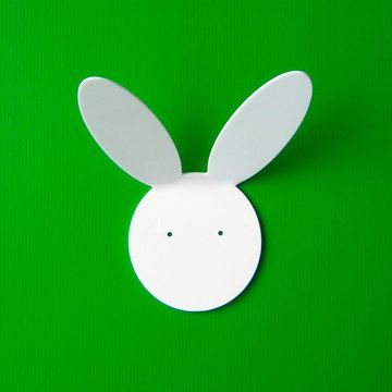 Objectify Rabbit Wall Hook, acrylic, made in NZ, designed by Brent Wilson.