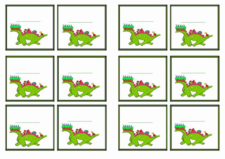 Free Printable Dinosaur Themed Name Tags Themed Name
