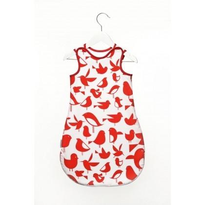 śpiworek - czerwone ptaszki