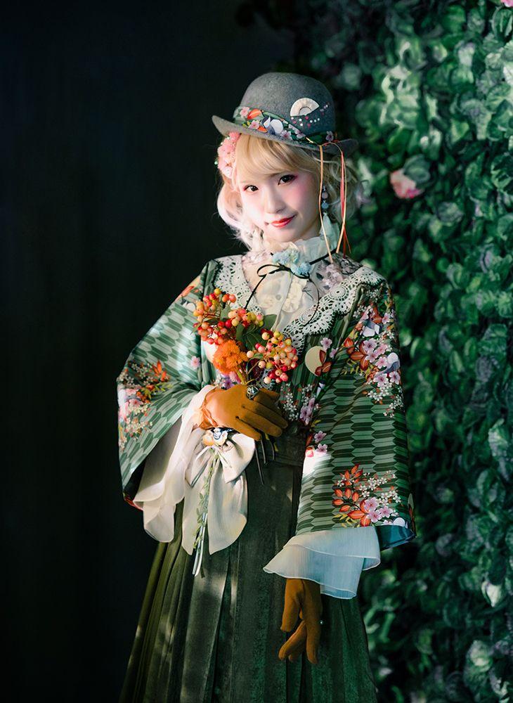 7c1cda74a0 Japanese Style Half Coat Taishō Period Haori Oversize Spring Autumn Green  Grey Kimono Jacket in 2019   clothes   Fashion, Kimono jacket, Kimono