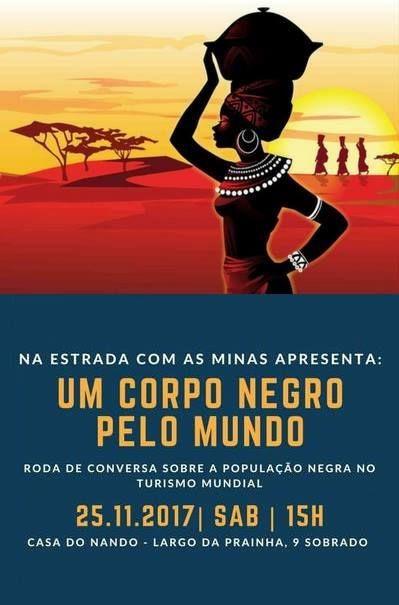 """Na Estrada com as Minas apresenta: """"Um corpo negro pelo mundo: roda de conversa sobre a população negra no turismo mundial"""""""