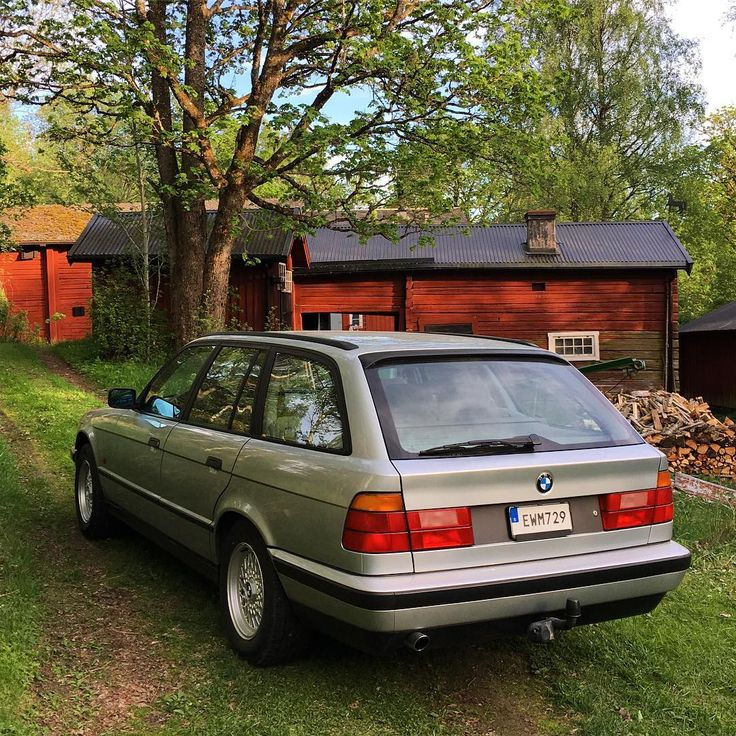 """BMW 520i Touring - Stockholm Parked Cars (@stockholmparkedcars) on Instagram: """"It's been a great weekend for road trips in Sweden. What could be better than road tripping in a Touring from the 90's."""