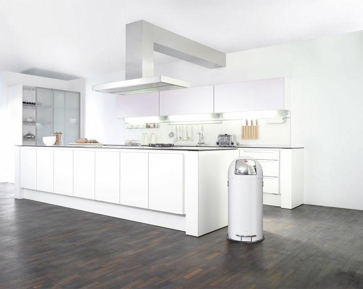 Mülleimer für die Küche gesucht?   Hailo KickMaxx XL Großraum-Abfallbox: 36 Liter Füllmenge    Mülleimer Papierkorb Push Verzinkt