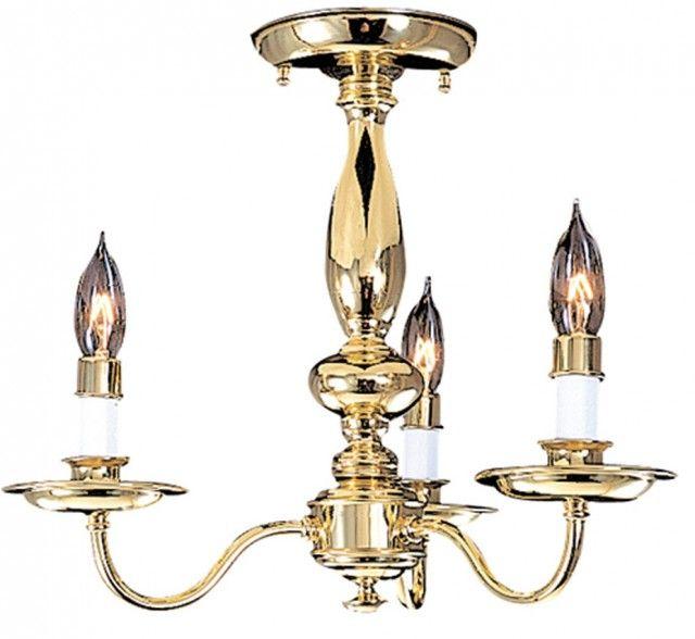 Jamestown I Collection 15″ Dia Medium Traditional Semi Flush Ceiling Light
