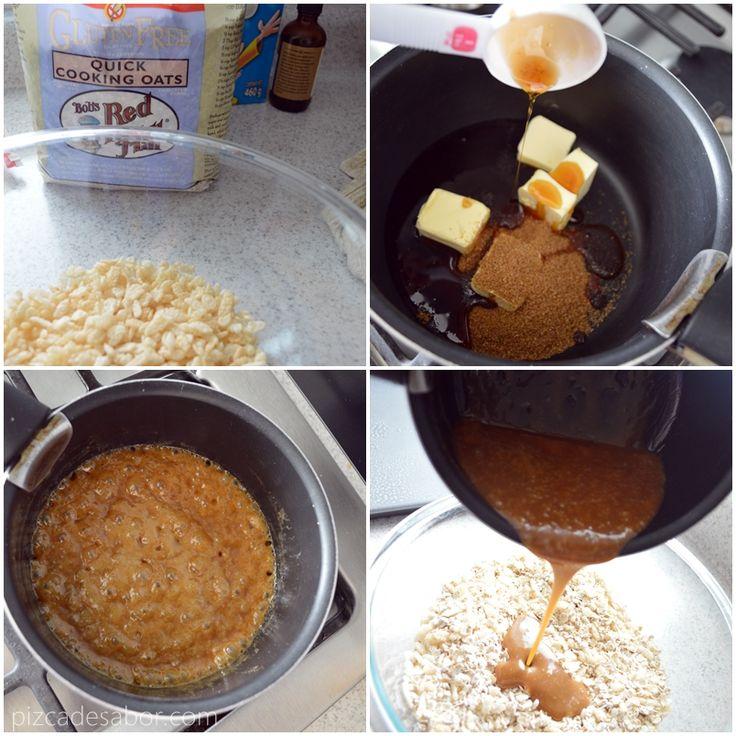 Barritas de granola caseras sin prender el horno sin - Como se hace horno de lena ...