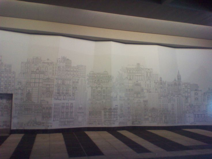 Mural in the Cape Town Civic Centre MyCiti Bus Station 07.09.2013