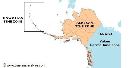 Alaska Time Zone Map ~ AFP CV