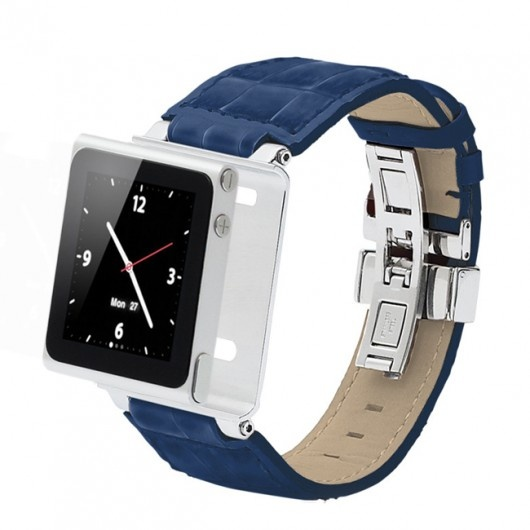 Leather watch band, or say watch wrist strap for iPod nano 6th generation, $15.30