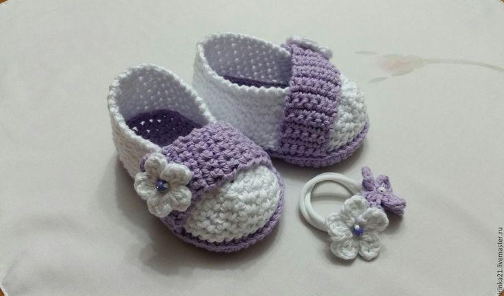 Купить пинетки - пинетки для новорожденных, пинетки, пинетки в подарок, для детей, для девочки, Вязание крючком