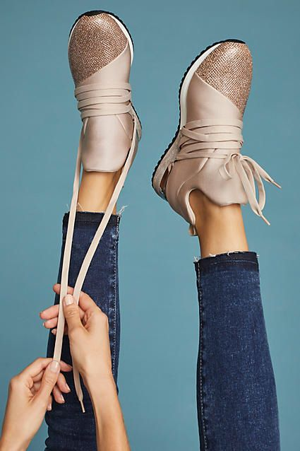 These shoes are so cool!! J/Slides Zorro Metallic Sneakers | Anthropologie | Women's Shoes | Women's sneakers | glitter | Casual | Affiliate