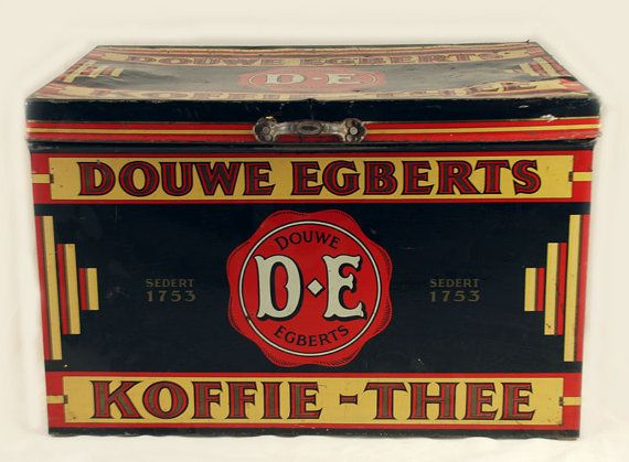 Large antique Dutch DE Douwe Egberts Koffie by SmeerlingAntiques