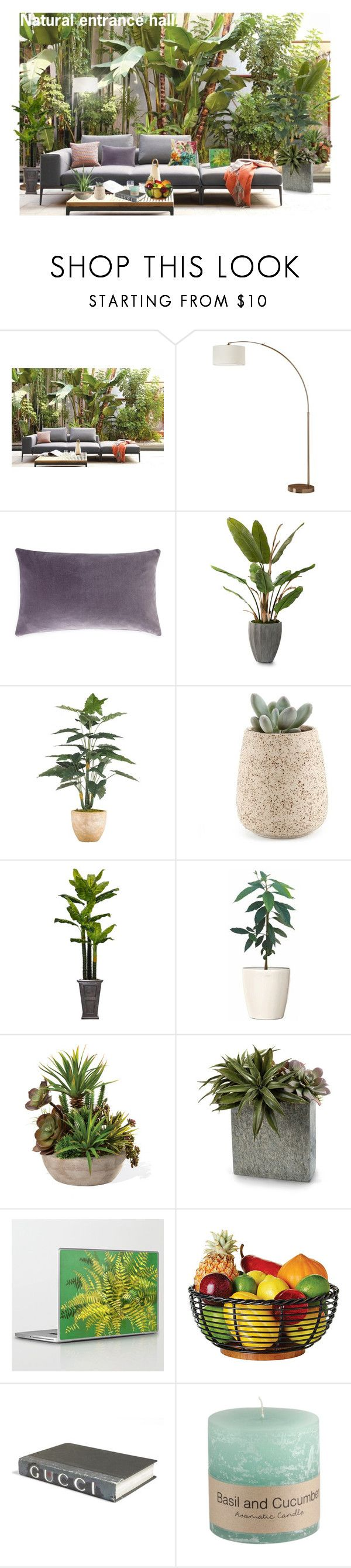 """Natural entrance hall"" by irina-demydovych ❤ liked on Polyvore featuring interior, interiors, interior design, home, home decor, interior decorating, Design Within Reach, John-Richard, Laura Ashley and E. Lawrence, Ltd."