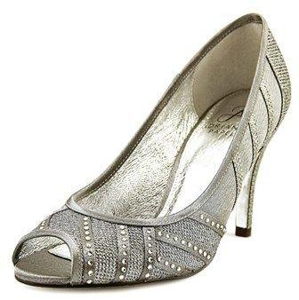 Adrianna Papell Flair Women Us 8.5 Silver Peep Toe Heels.