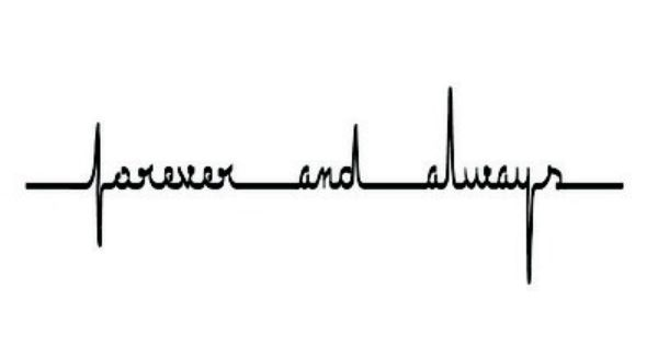 Forever and always heartbeat tattoo