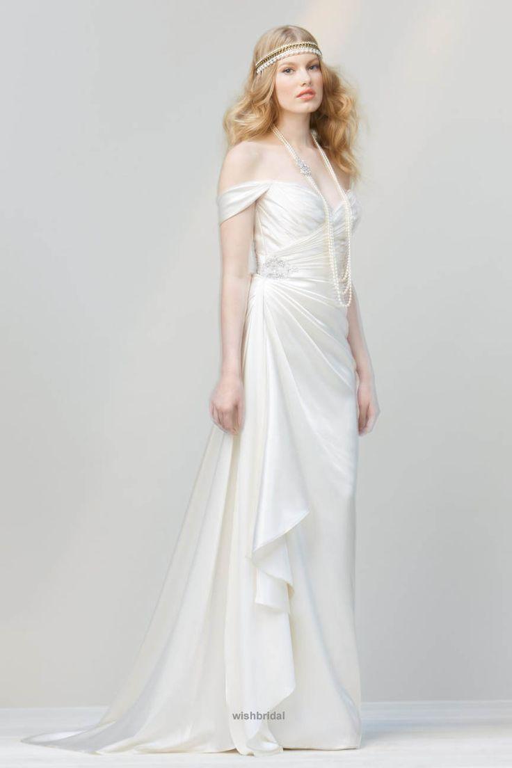 Alternative Simple And Cheap Wedding Dress In A Flowy Design