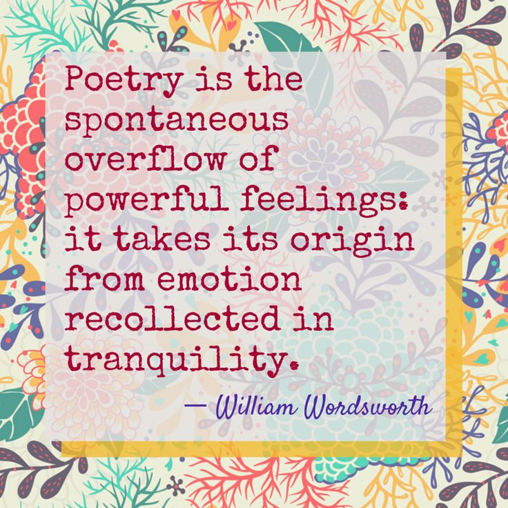 A little William Wordsworth for #NationalPoetryMonth!