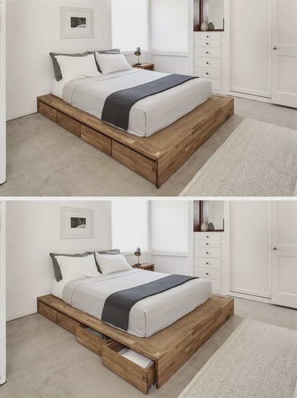 Simple Wooden Bed Frame Bedframe Bed Frame With Drawers Bed