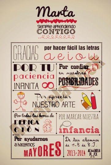 Laminas con mensajes para maestros o profesores #regalomaestros #regalosoriginales