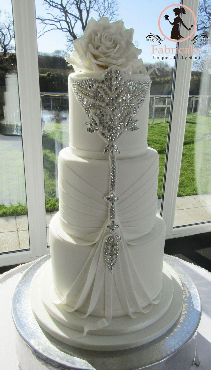 Wedding Cake Jewel encrusted wedding cake #amazingweddingcakesbeautiful #weddingcakes