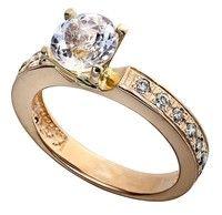 Золотое кольцо с розовым морганитом и бриллиантами GDMOR0007
