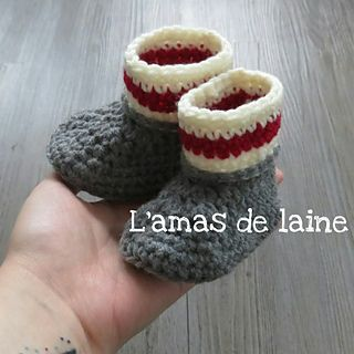 CROCHET PATTERN Cozy baby slippers - Cute and fast to make. You will need about an hour to make these little baby booties. Sock monkey style!