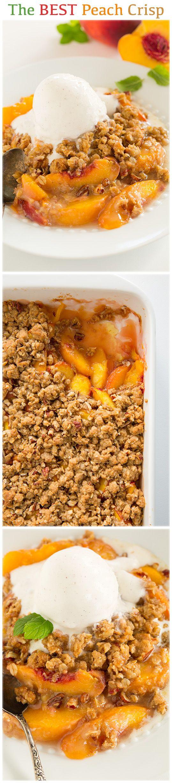 Peach Crisp ~ This is the BEST peach crisp I've ever had! Love this recipe!