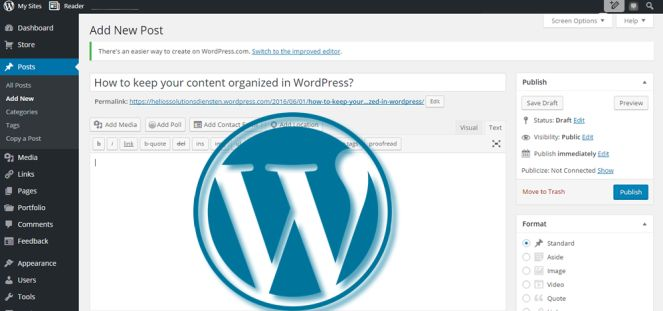 How to keep your content organized in WordPress? by https://outsourcingwordpressutvikling.wordpress.com/2016/06/01/how-to-keep-your-content-organized-in-wordpress/