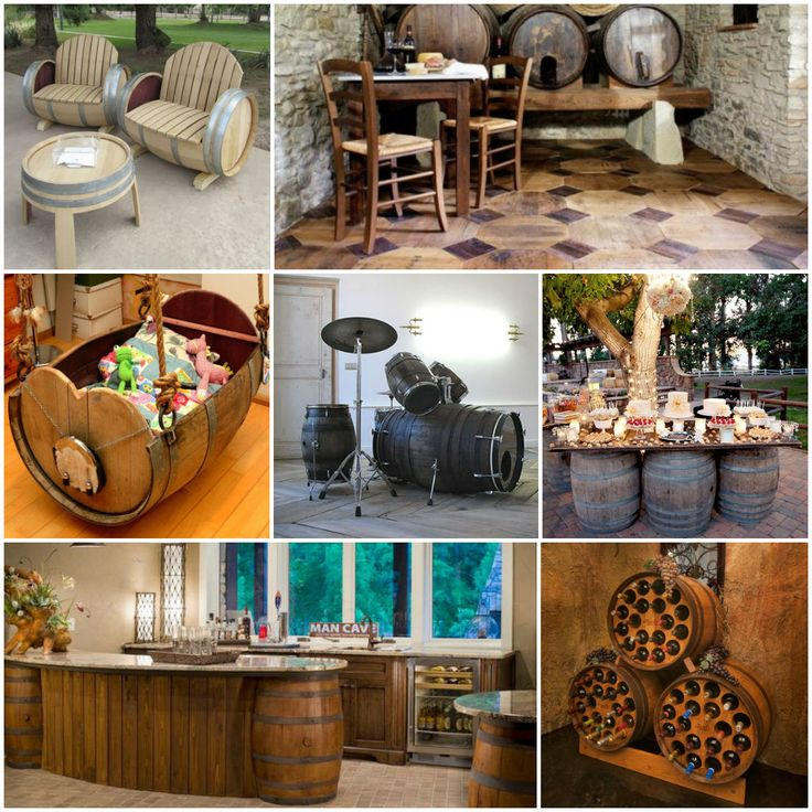 14 Gorgeous Ideas of Recycled Wine Barrels