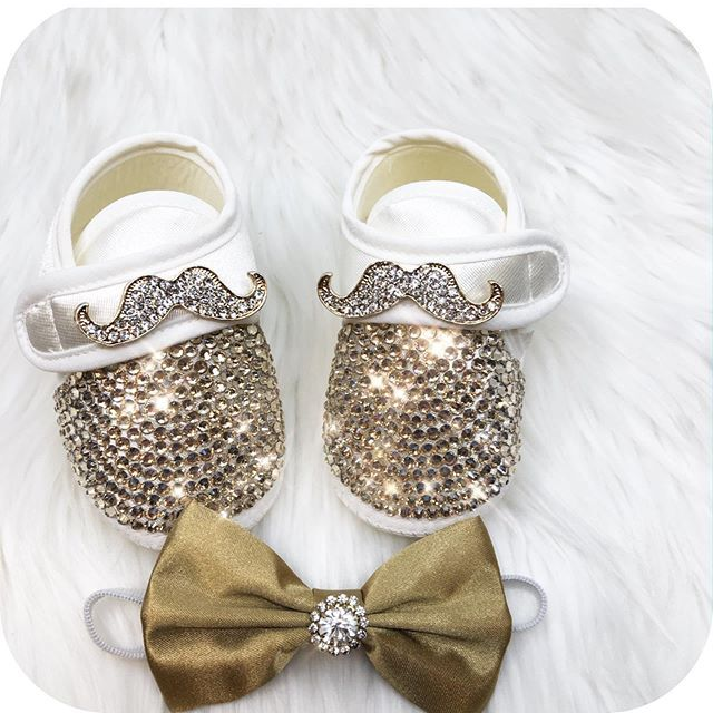 Crystal Bow Bling Baby Shoes