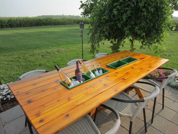 Table De Picnic : My idea of a picnic table made of cedar with removable rectangular ...