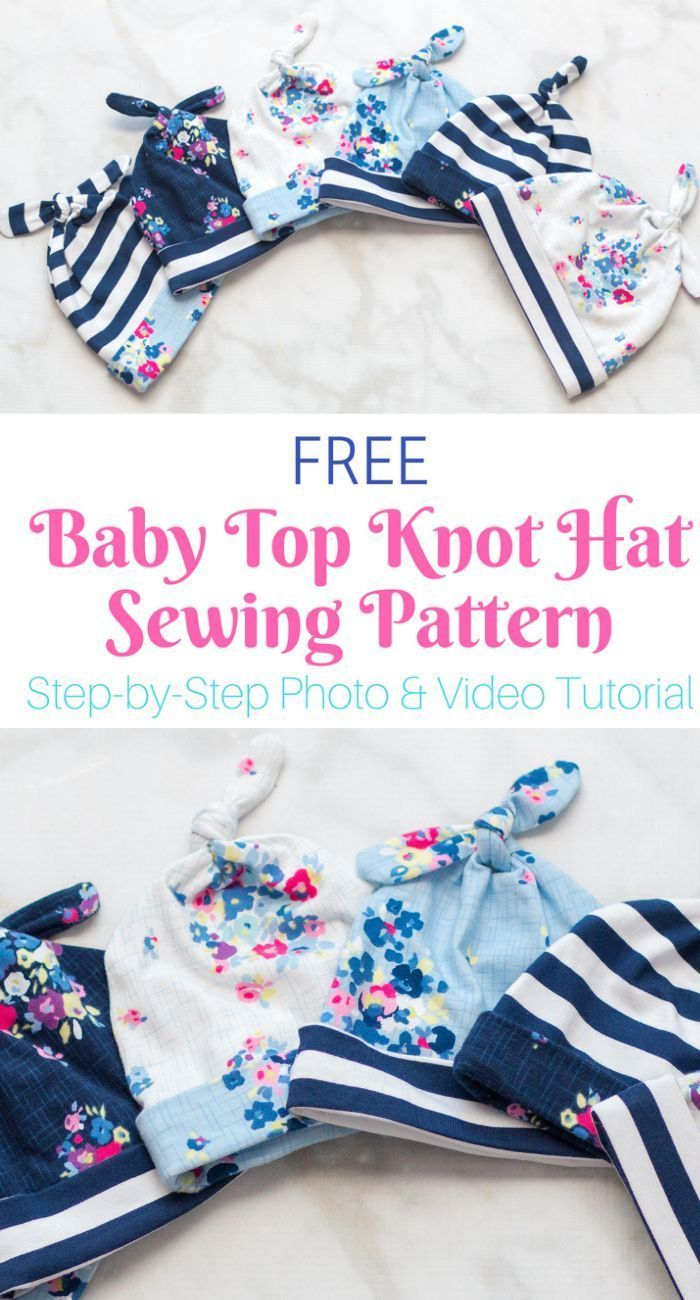 Double Top Knot Baby Hat Pattern Sewing Sweet Red Poppy Baby Hat Sewing Pattern Hat Patterns To Sew Baby Top Knot