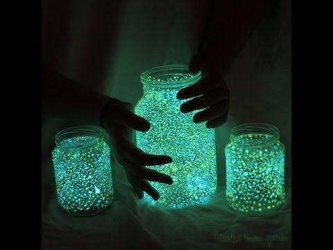 Fang die Lichter der Feen in ein Glas ein!