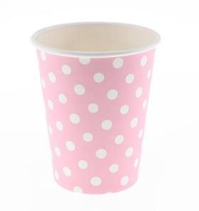 24 Sambellina Polka-dot Pink Paper Cups - Included in the All the Pinks Party Pack $105.00 strawberry-fizz.com.au
