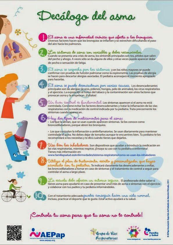 Decálogo para #niños con #asma
