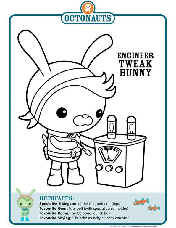 83 best octonauts images on pinterest | birthday party ideas, kid ... - Octonauts Coloring Pages Print