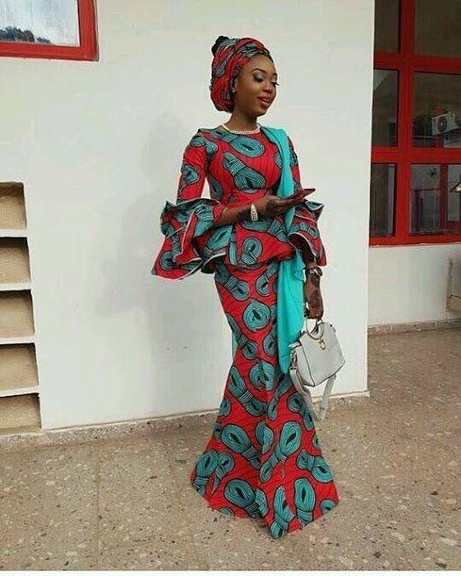 2627f483d56a8 30 Super Stylish African Fashion Designs   Peplum Ankara Skirt And Blouse  Styles 2018
