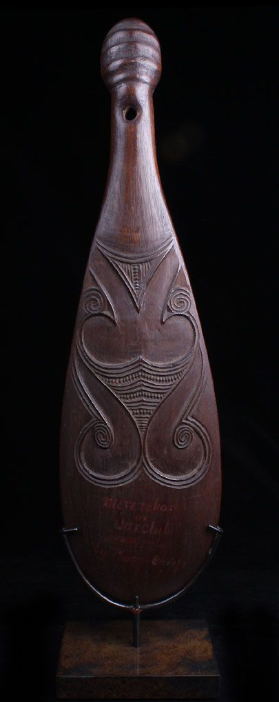 Origin: Polynesia, New Zealand, Maori People (Provenance: Deaccessioned from the San Francisco de Young Museum) Period/Date: 1820-1850