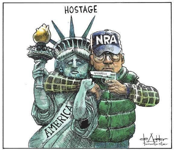 America is being held hostage and hostages are being killed despite their demands being met.