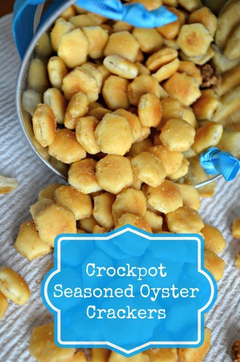 This Crockpot Seasoned Oyster Crackers Recipe Is Perfect For Party Time Snack Or Any