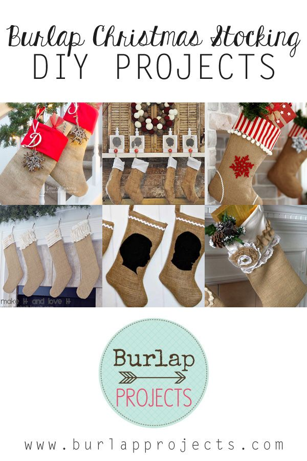 Do you love Christmas Stockings? Do you love burlap? Then check out this collection of Burlap Christmas Stocking DIY Projects. Burlap fun for all!