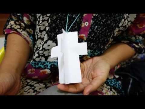 untuk anakanak sekolah minggu: Kreativitas Sekolah Minggu- Membuat Kalung Salib