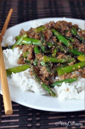 Spicy Pork Asparagus Stir-Fry   Very Culinary