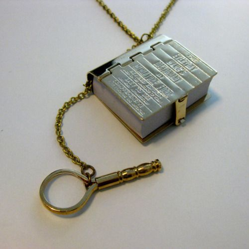 Book Worm Dictionary Necklace!